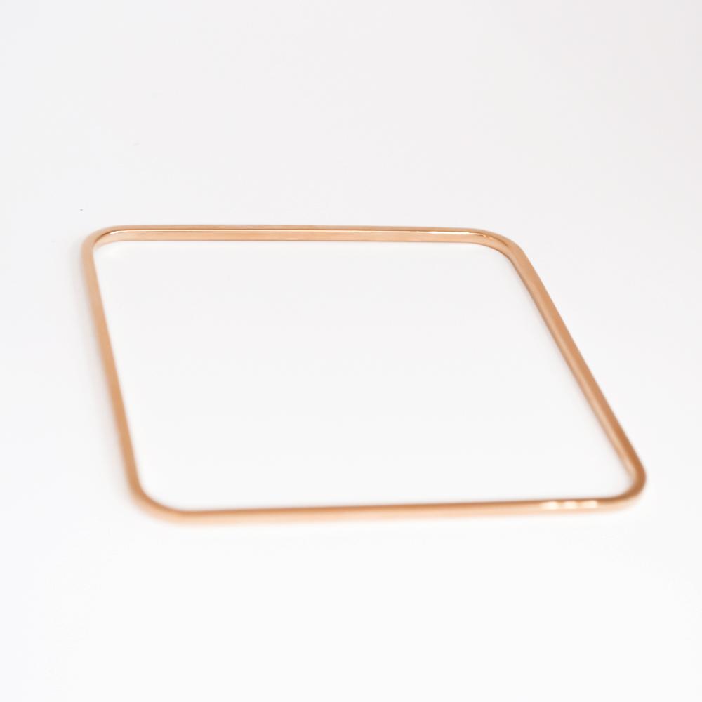 Simple minimalist rose gold square bracelet