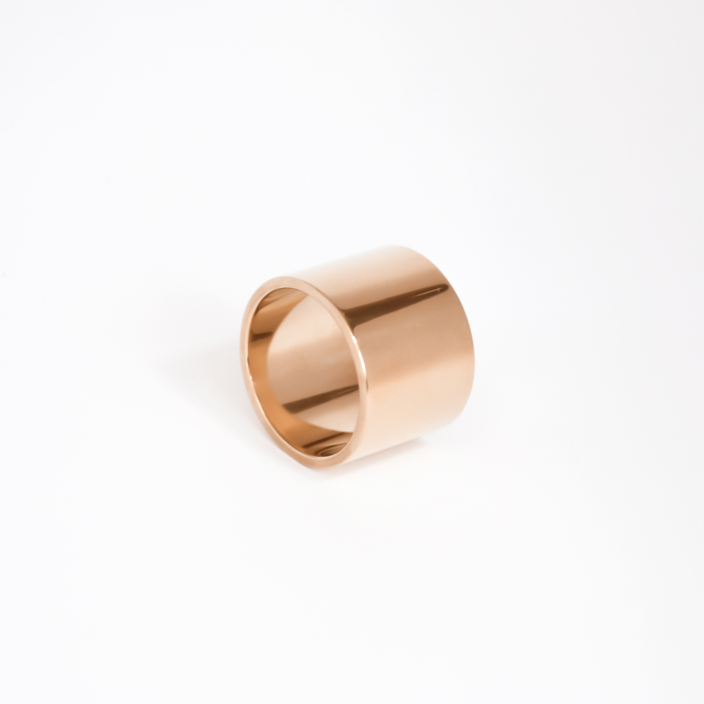 Silver rose gold ring simple design
